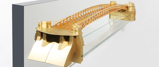 Model of Jungfernbrucke Bridge in Hamburg, Germany, built 1888
