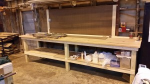13. 12 foot long work bench