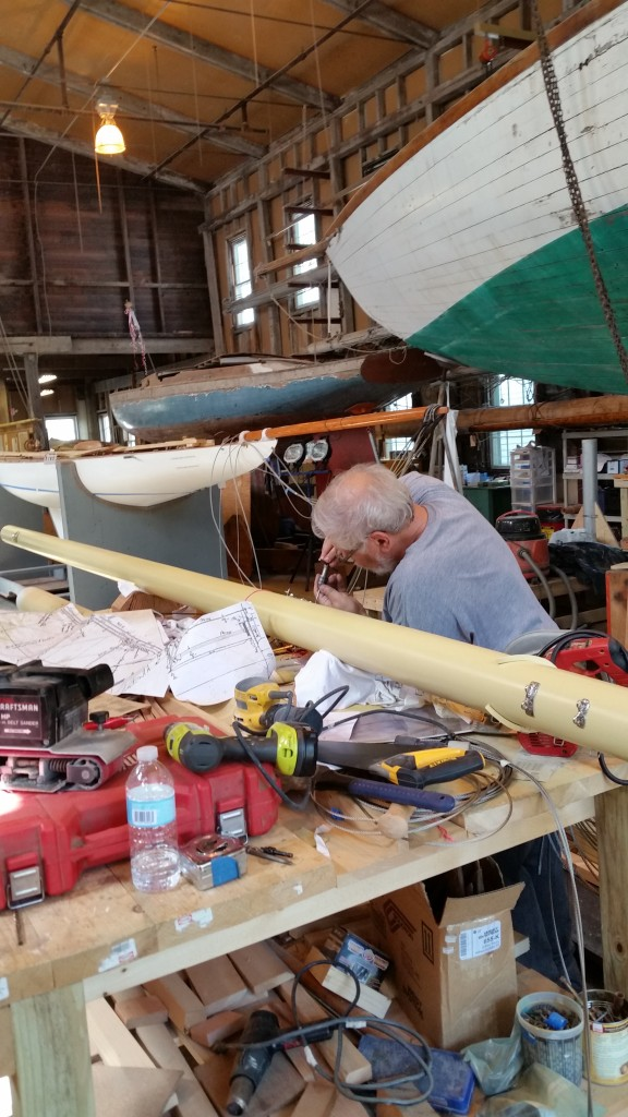 2 Steve works on mast